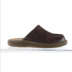 Dr Martens Mule Slide Slip On Clog Brown Leather